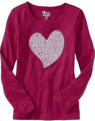 Old Navy Girls Sequined-Applique Tees
