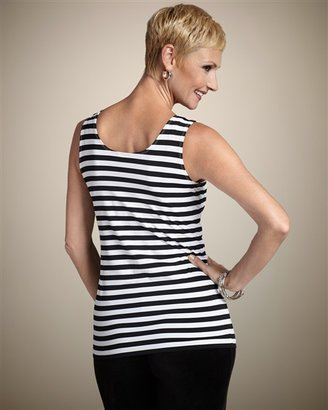 Chico's Microfiber Stripe Contemporary Tank