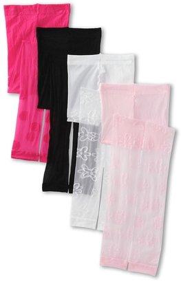 Jefferies Socks Dotty Footless Tights Daisy Footless Tights (Little Kid/Big Kid) (Asst A (1) Bubblegum (1) Black (1) Pink (1) White) - Hosiery