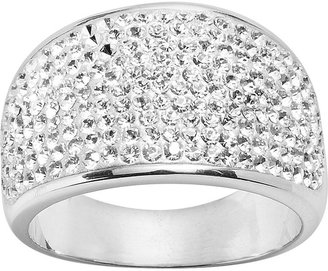 Swarovski Sterling 'n' ice sterling silver crystal ring - made with elements