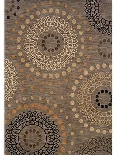 StyleHaven Messina Grey/ Beige Transitional Area Rug