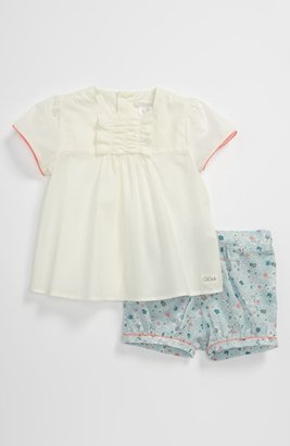 Chloé Blouse & Shorts (Baby) White/ Turquoise 9M