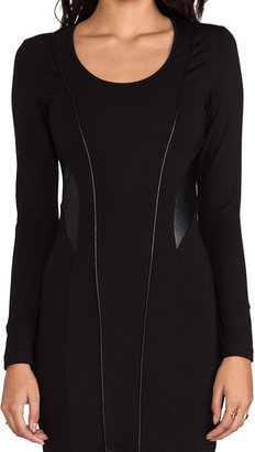 LAmade Lambskin Contrast Dress