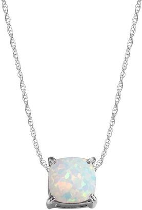 Sterling Silver Lab-Created Opal Pendant