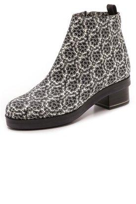 Nicholas Kirkwood SUNO x Black & White Floral Booties