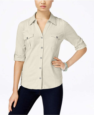 Style & Co Utility Shirt, Only at Macy's $17.98 thestylecure.com