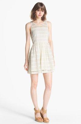 BB Dakota 'Jacynth' Crochet Fit & Flare Dress