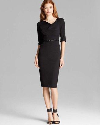 Black Halo Jackie O Elbow-Sleeve Dress $345 thestylecure.com