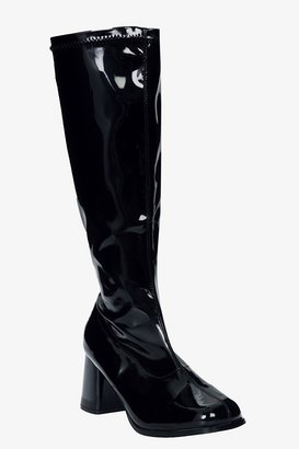 Funtasma Black Patent Go-Go Boots (Wide Width)