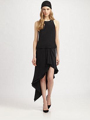 philosophy Silk Ruffle-Skirt Dress