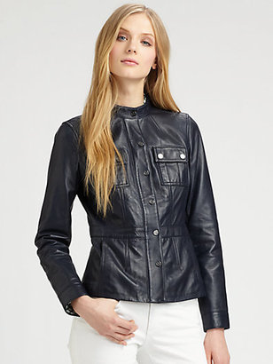 Tory Burch Leather Beacon Jacket