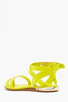 Nasty Gal Shoe Cult Zealand Sandal - Neon Yellow