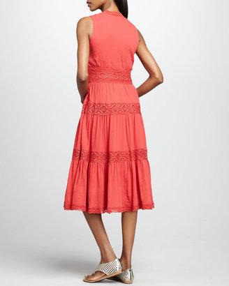 Neiman Marcus Sleeveless Gauze Dress