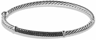 David Yurman Petite Pavé Bracelet with Black Diamonds