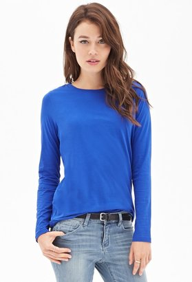 Forever 21 Contemporary Long-Sleeved Jersey Tee