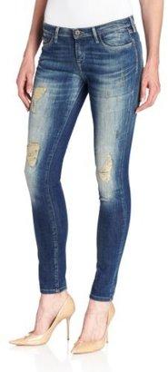 Twenty8Twelve Women's Allen Skinny Zipper Detail Jeans in Denim
