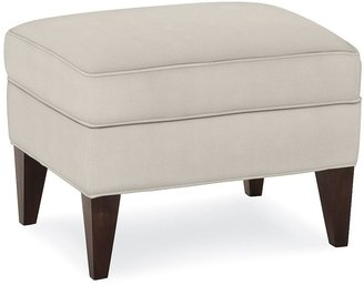 Pottery Barn Marcel Upholstered Ottoman Performance Fabrics