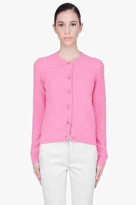 Marc Jacobs pink cashmere knit cardigan