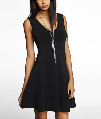 Express Fit And Flare Bandage Dress