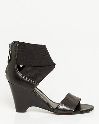 Le Château Leather Ankle Strap Wedge