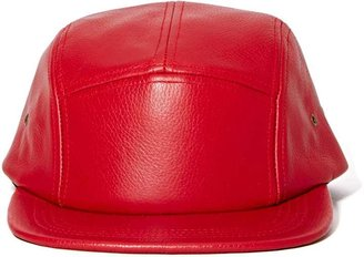 Nasty Gal Gear Up Leather Cap - Red