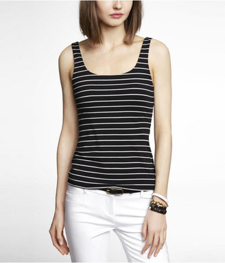 Express Striped Double Layer Fitted Tank