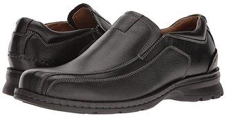 Dockers Agent Bike Toe Slip On (Black Tumbled Leather) Men's Shoes