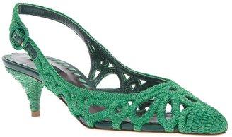 Dolce & Gabbana woven raffia sling back sandal
