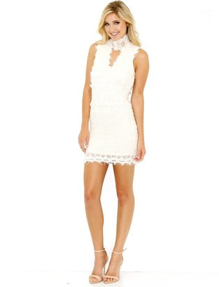 Nightcap Clothing Florence Lace Dress In Ivory