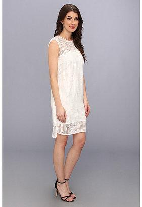 Vince Camuto S/S Herringbone Burnout Dress