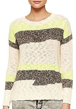 Mng by Mango® Open-Stitch Multi-Color Sweater