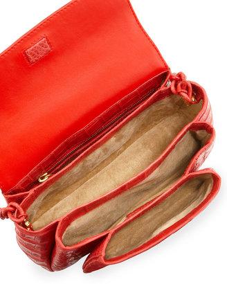 Nancy Gonzalez Crocodile Shoulder Bag, Red