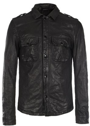 AllSaints Section Leather Shirt