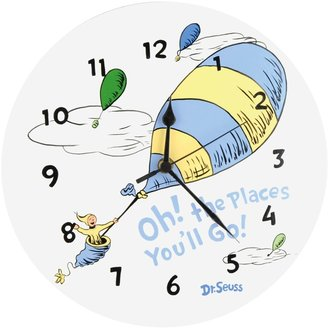 Trend Lab Dr. Seuss's Oh! the Places You'll Go! Wall Clock by Blue
