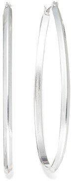 Charter Club Silver-Tone Inside Out Hoop Earrings