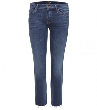 Mother THE RASCAL FRAY CROPPED JEANS