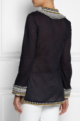 Tory Burch Embroidered cotton tunic