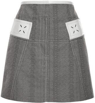 Alexander Wang High Waisted Mini Skirt With Deconstructed Waistband
