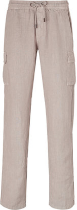 Vilebrequin Sable Linen Pants with Side Pockets