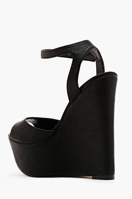 Nasty Gal Shoe Cult Belen Platform Wedge - Black