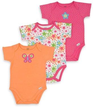 Lamaze 3-Pack Orange Butterfly Bodysuits - Newborn
