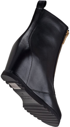 Marc by Marc Jacobs 636673 Wedge Boot Black Leather