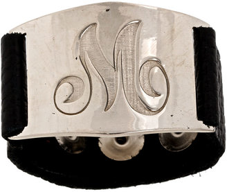 Lisa Stewart Serenity Bracelet with Engraved Nickel Initial