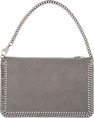 Stella McCartney Light Grey Shaggy Deer Fallabella Clutch