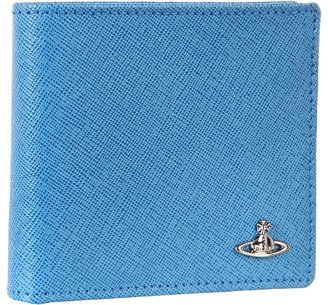 Vivienne Westwood Saffiano Wallet (Light Blue) - Bags and Luggage