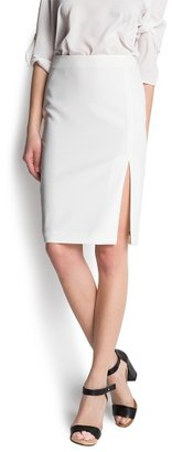 MANGO Slit pencil skirt
