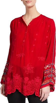 Johnny Was Plus Size Paige Embroidered Tunic