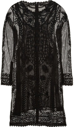 Isabel Marant Embroidered cotton-mesh dress