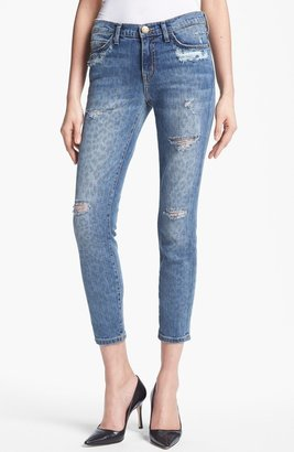 Current/Elliott 'The Stiletto' Print Distressed Stretch Jeans (Leopard Destroy)
