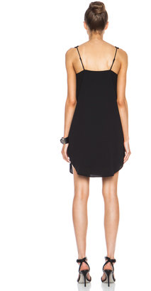 Alexander Wang V Neck Tank Poly Crepe Dress